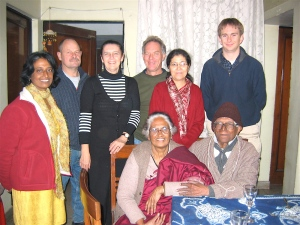 dinner with meena's family