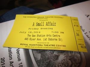 a small affair ticket