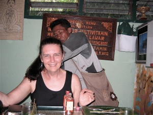 Having a massage at Wayan's shop in Ubud
