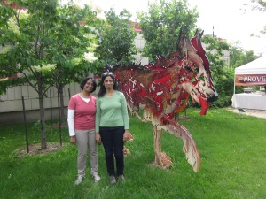 entre chien et loup st. boniface sculpture garden