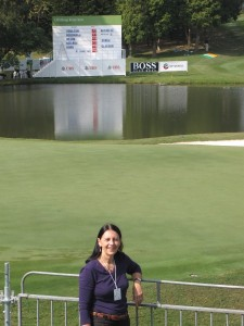 Me on the 18th hole Hong Kong Golf Club Sheung Shui- Hong Kong Open 2010