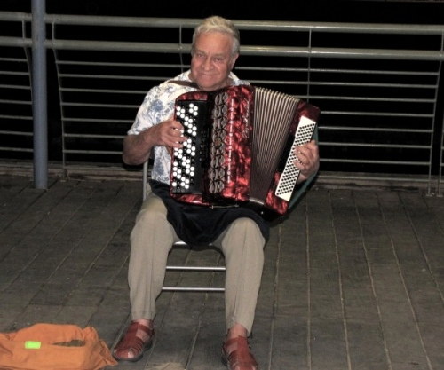 Accordian player Tiberius Israel