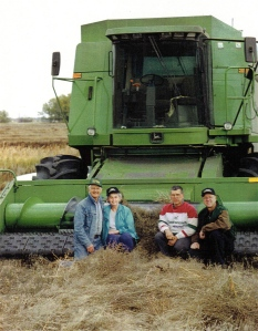 My parents grew wheat on their hobby farm to donate to the Food Grains Bank. This grain was sent to needy countries around the world.