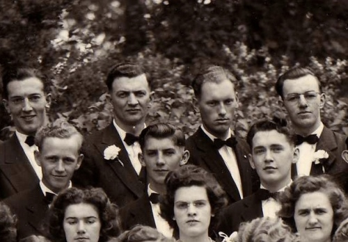 My Dad in 1947 - he is in the centre in the first row of men