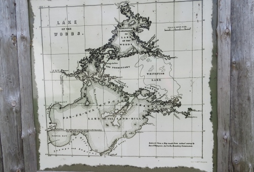 david thompson map buffalo point
