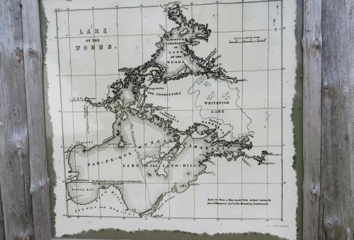 david thompson map buffalo point