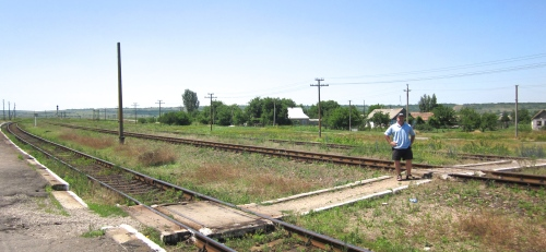 on the train tracks at lichtenau ukraine