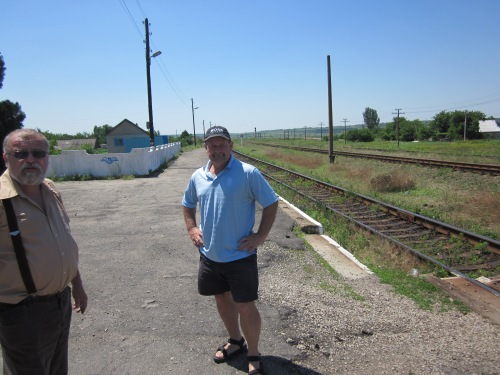 victor and dave lichtenau train station ukraine