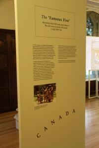 JCPC exhibition Famous Five panel