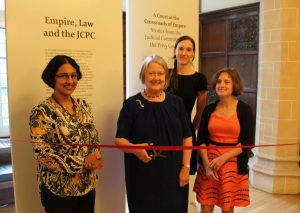 Lady Hale cuts the ribbon to open JCPC exhibition