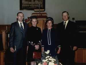 Dave's parents (on the right) who served as a pastors in a church congregation for decades