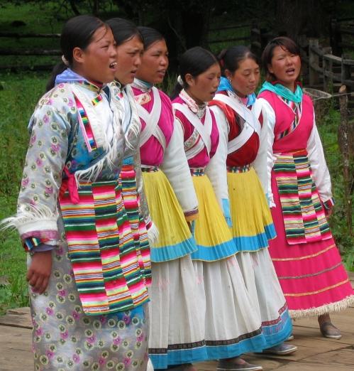 Naxi singers Yunnan province China