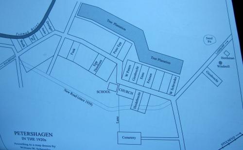 map of the village of petershagen ukraine