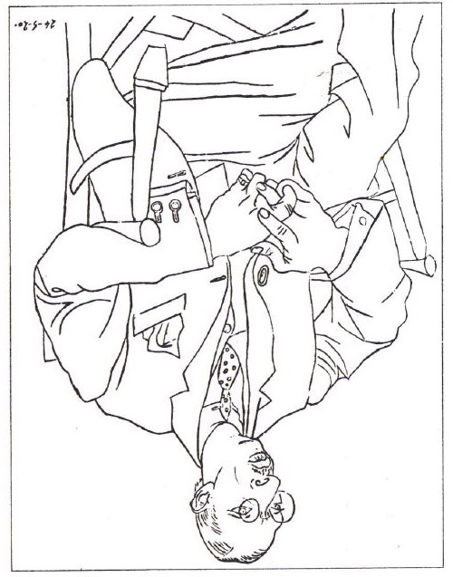 Upside Down Contour Line Drawing : Picasso drawing of stravinsky what next