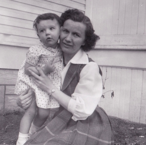 Me and Aunt Vi in 1955