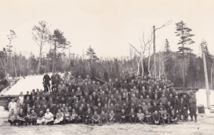 The men in the conscientious objectors camp in Montreal River