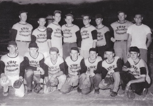 Dad with his ball team. Dad is the last player on the left in the back row.