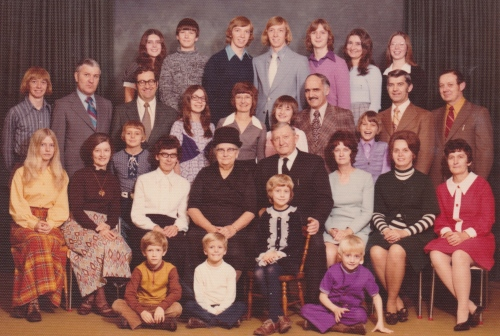My grandparents with their children and grandchildren some forty years ago.