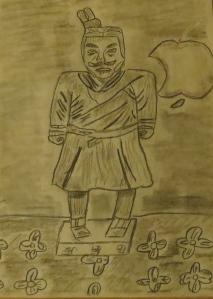 terra cotta warrior sketch