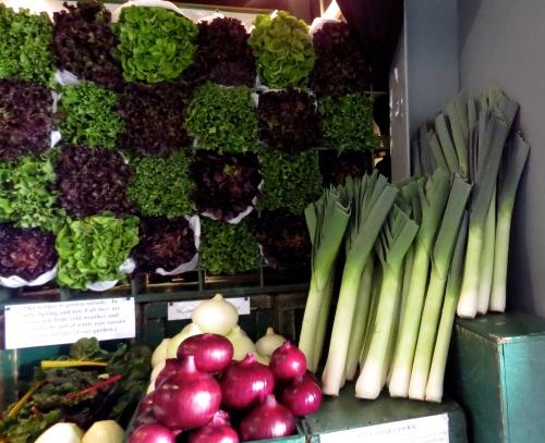 artistically arranged vegetables saskatoon farmers market