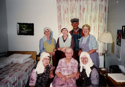 My Dad and his sisters dressed up in their parents' clothes visit Grandma in the nursing home. This family knows how to have fun.