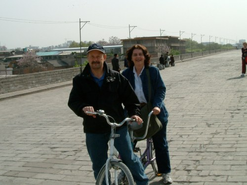 biking in xian