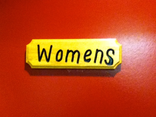 womens washroom sign