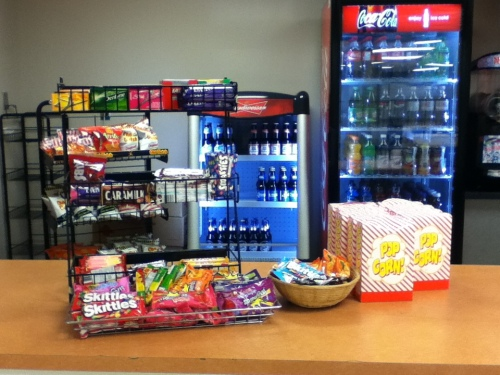 Candy and pop loaded with sugar and popcorn loaded with salt on sale at a university basketball game