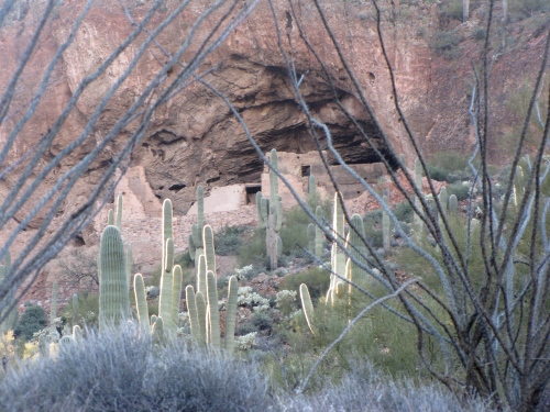 In 2013 we visited the abandoned cliff dwellings of the Salado people built in the 1300s in the Tonto Forest in Arizona