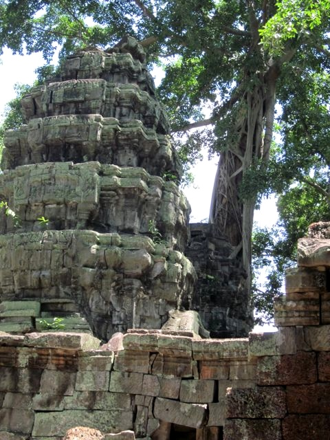 I chaperoned a student trip to Cambodia in 2011 and photographed this abandoned temple in Angkor Wat