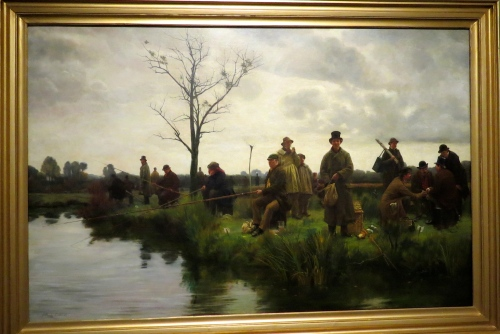 The Pegged Down Fishing Match- Walter Dendy Sadler- 1884