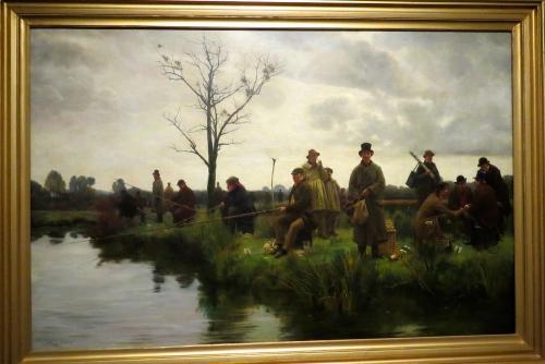 The Pegged Down Fishing Match- Walter Dendy Sadler- 1884