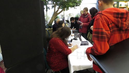authors signing books
