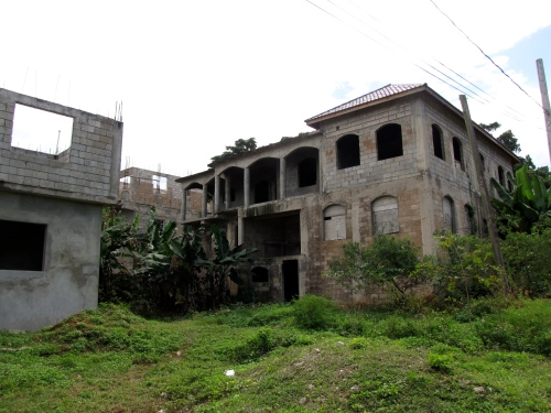 This is only one of hundreds of unfinished and abandoned homes we saw in Jamaica