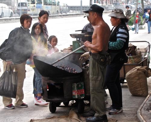 chestnuts roasting hong kong