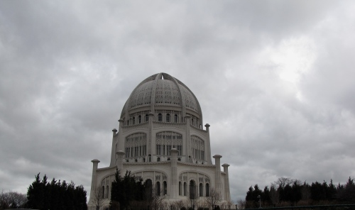 Baha'i House of Worship Chicago photographed in November 2011
