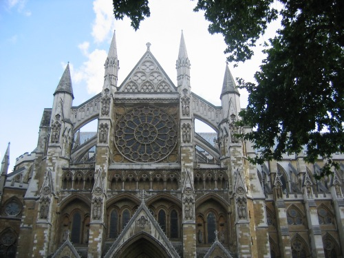 Westminister Abbey in London photographed in August 2005
