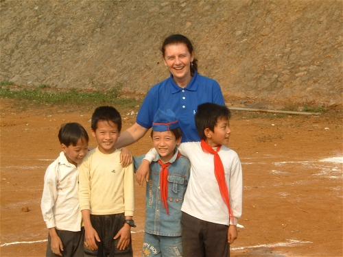 with boys in vietnam