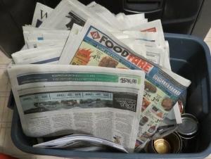 recycyling newspaper