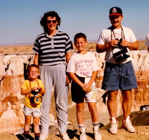 Hiking Coal Mine Canyon Arizona- 1990