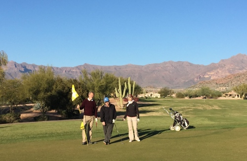 First golf game with our friends Rudy and Sue