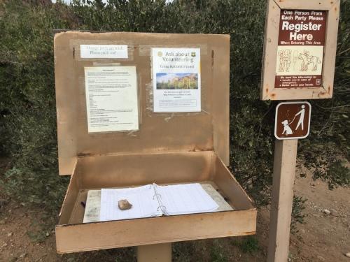 sign in log book superstition wilderness