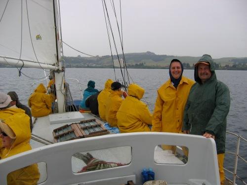 sailing on lake taupo new zealand