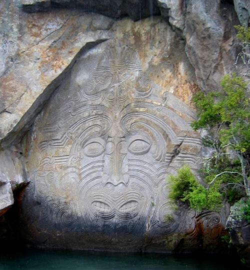 Ngatoroirangi carving Lake Taupo