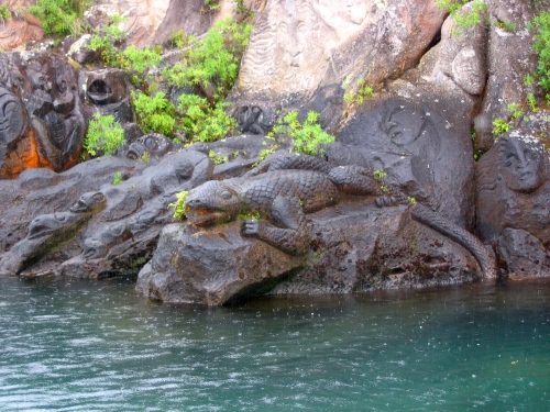 lizard guardians of lake taupo and the maori carvings