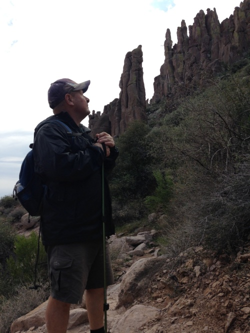 Hiking to Weaver's Needle- 2015