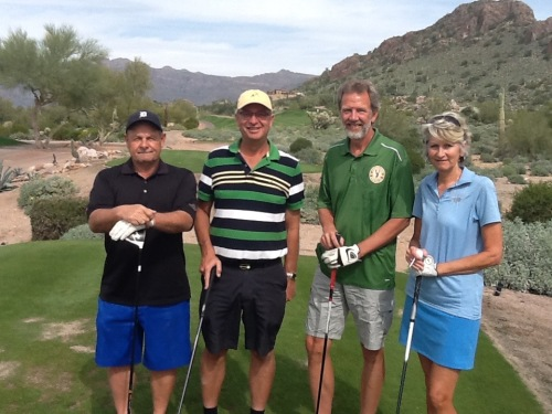 dave golfing with ed, rudy and sue
