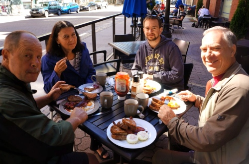 Breakfast at the Free Press Cafe with friends