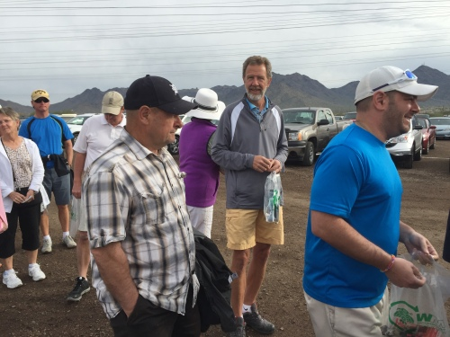waiting in line for the Waste Management Open