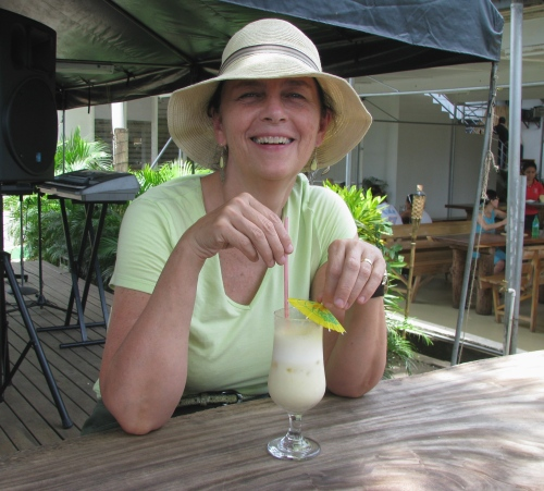marylou in hat in fiji